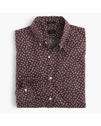 J.Crew | Brown Slim Secret Wash Shirt In Mahogany Floral for Men | Lyst