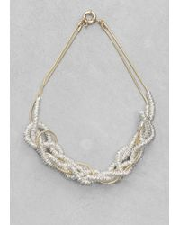 & Other Stories - Metallic Brass Necklace - Lyst