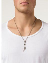 Roman Paul   Metallic Wing Pendant Necklace for Men   Lyst