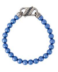 Stephen Webster | Blue Bead Sapphire Bracelet for Men | Lyst