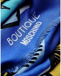 Boutique Moschino | Blue Stole | Lyst
