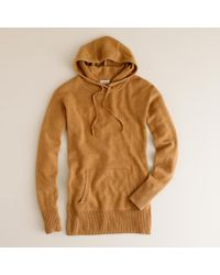 J.Crew | Brown Collection Cashmere Popover Hoodie | Lyst