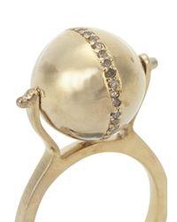 Jade Jagger | Metallic Disco Ball Gold Plated Diamond Ring | Lyst
