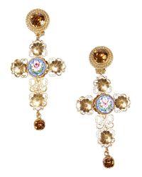 Dolce & Gabbana - Metallic Earrings - Lyst