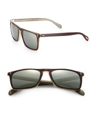 Oliver Peoples - Brown Bernardo 47mm Square Sunglasses for Men - Lyst