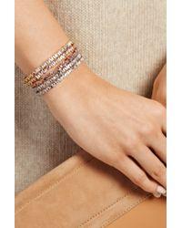 Suzanne Kalan - Pink 18-karat Rose Gold Diamond Cuff - Lyst