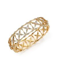 Adriana Orsini | Metallic Kaleidoscope Pavé Bangle Bracelet/goldtone | Lyst