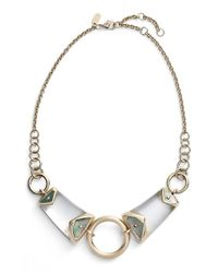 Alexis Bittar | Metallic 'lucite' Center Ring Bib Necklace | Lyst