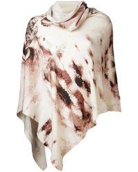 Juma | Natural Cashmere Animal Print Poncho | Lyst