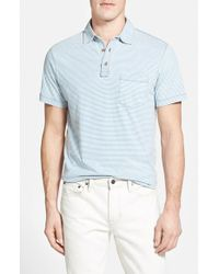 Tailor Vintage | Blue Stripe Short Sleeve Henley for Men | Lyst
