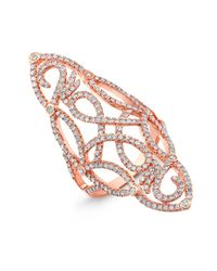 Anne Sisteron - Pink 14kt Rose Gold Diamond Taylor Ring - Lyst