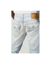 True Religion | Blue Ricky Straight Indigo Mens Jean for Men | Lyst