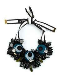 Marni | Blue Chunky Beaded Necklace | Lyst