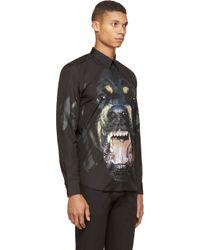 Givenchy - Black Rottweiler Print Shirt for Men - Lyst
