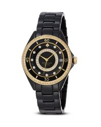 kate spade new york - Black Pavé Enamel Seaport Grand Watch, 38Mm - Lyst