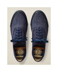 RRL - Blue Norfolk Jaspé Sneaker for Men - Lyst