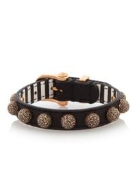 Henri Bendel - Black Muse Ball Leather Bracelet - Lyst