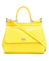 Lyst - Dolce   Gabbana Small  sicily  Tote in Yellow 33a564abcae4a
