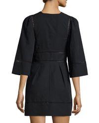 Isabel Marant - Black Ladder-stitch Linen/cotton Dress - Lyst