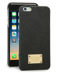 MICHAEL Michael Kors | Black Saffiano Leather Iphone 6 Plus & 6s Plus Case | Lyst