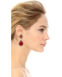DANNIJO - Red Carrie Earrings  Silvercrystalitalian Ruby - Lyst