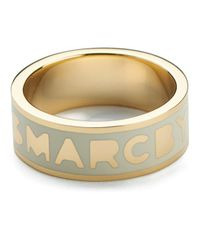 Marc By Marc Jacobs - Natural Women's Classic Marc Logo Band Ring - Lyst