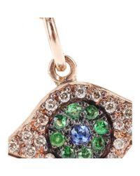 Ileana Makri - Pink 18kt Rose Gold Eye Necklace With Brown Diamonds - Lyst