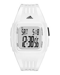 Adidas Originals - White 'duramo' Digital Watch - Lyst