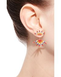 Luis Morais - Multicolor Long Multi Feather 1 Enameled Earring - Lyst
