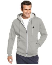 Champion | Gray Men's Fleece Full-zip Hoodie for Men | Lyst