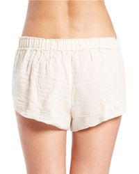 Free People - Natural New Moon Shorts - Lyst