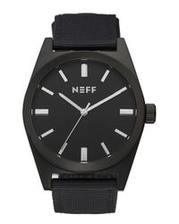 Neff | Black 'nightly' Round Watch for Men | Lyst