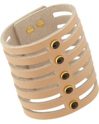 Isabel Marant - Brown Leather Cutout Cuff - Lyst