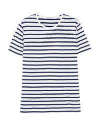 T By Alexander Wang | Black Striped T-shirt | Lyst