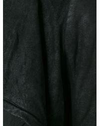 Rick Owens - Black Draped Lambskin Jacket  - Lyst