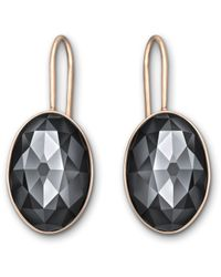Swarovski | Black Vanilla Pierced Earrings | Lyst
