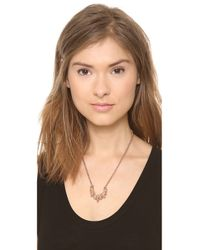 Pamela Love - Metallic Small Tribal Spike Necklace - Rose Gold - Lyst