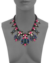 Kenneth Jay Lane - Multicolor Clustered Gemstone Bib Necklace - Lyst