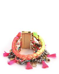 Juicy Couture | Multicolor Multi Strand Statement Bracelet | Lyst