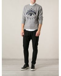 KENZO - Gray 'eye' Sweatshirt for Men - Lyst