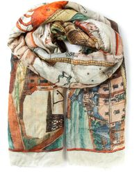 Faliero Sarti - Brown Ancient Map Scarf - Lyst