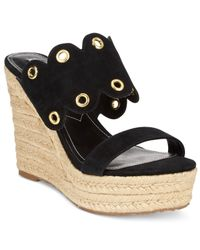 Charles by Charles David - Black Fallon Wedge Sandals - Lyst