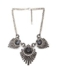 Forever 21 | Metallic Mysterious Fan Bib Necklace | Lyst