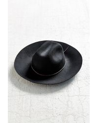 Urban Outfitters - Black Tie-back Wide Brim Hat - Lyst