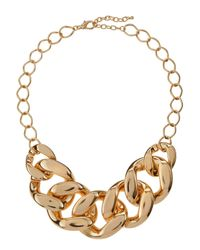 Kenneth Jay Lane | Metallic Golden Large Link Necklace | Lyst