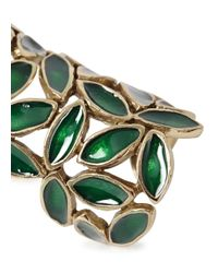 Bernard Delettrez | Green Leaf Articulated Ring | Lyst