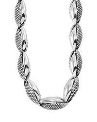 Lagos | Metallic Double-link Caviar™ Necklace | Lyst