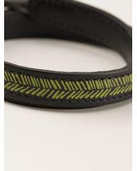 JvdF - Black Hand-Painted Herringbone Bracelet for Men - Lyst
