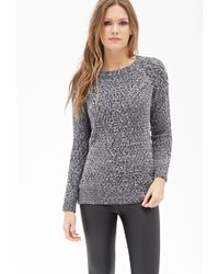 Forever 21 - Blue Contemporary Marled Open-knit Sweater - Lyst