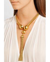 Ben-Amun - Metallic Gold-Plated Tassel Necklace - Lyst